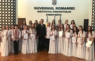 Corul de copii Callatis premiat de președintele CJ Constanța, Marius Horia Tutuianu