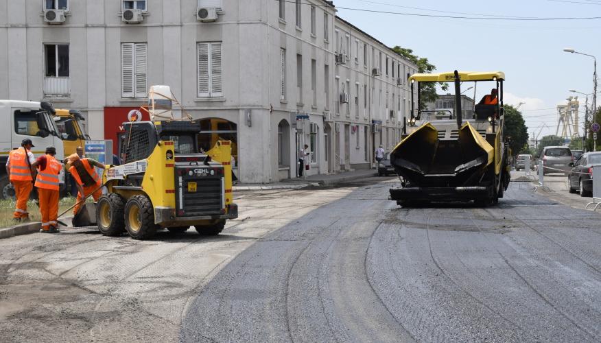 Străzi din Mangalia reabilitate cu bani europeni