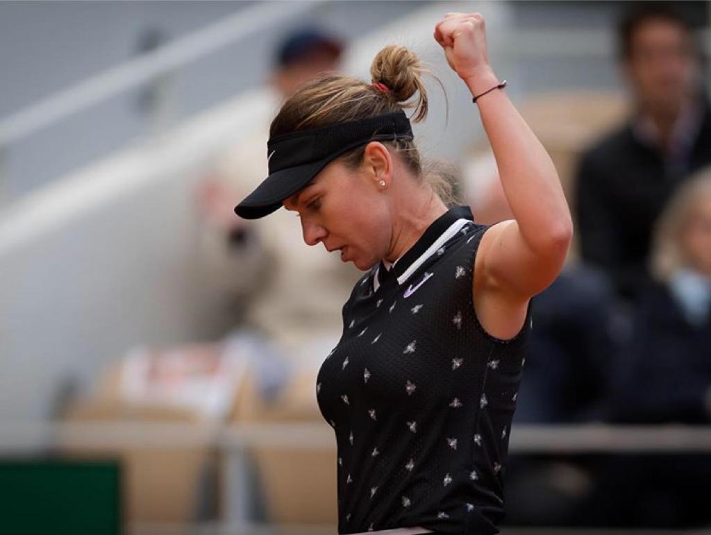 Simona Halep s-a calificat în sferturi la Roland Garros