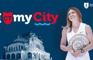 Simona Halep prezintă constănțenilor trofeul de la Wimbledon