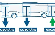 CT BUS anunță: Coborârea din autobuz se va face pe la ușile: 2 și 3