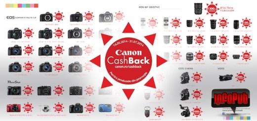 Canon Cashback pentru Produsele din Promotie