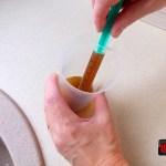 Aplicare cu seringa solutie par tincturi