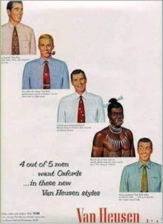 pubblicità cravatte anni 50
