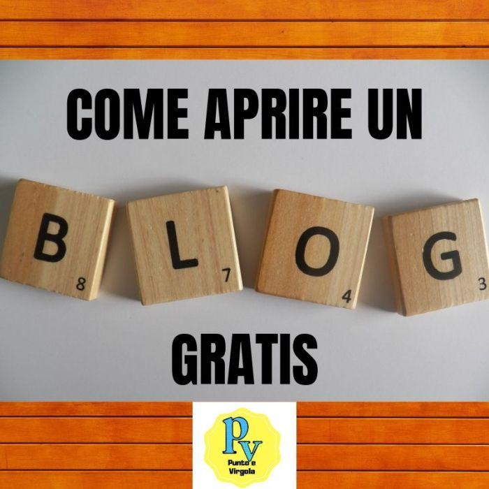 come aprire un blog gratis Punto e Virgola