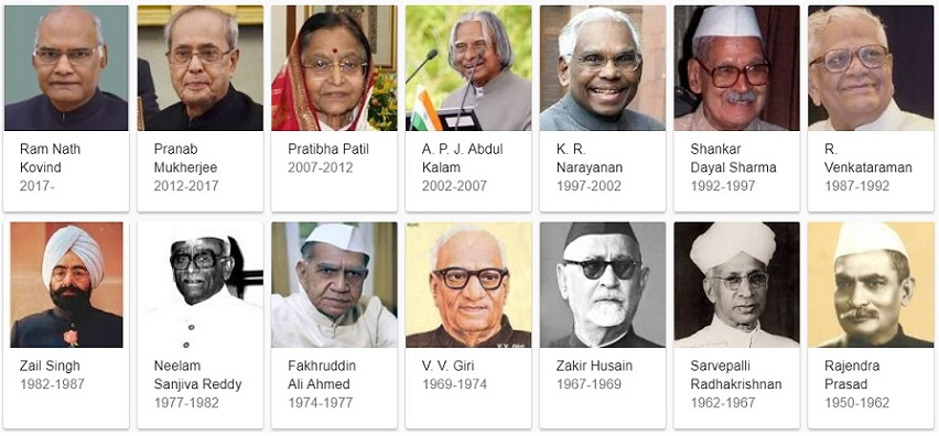 List of Presidents of India Since 1950 Till Date