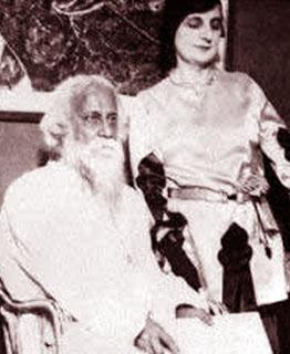 Indira Nehru with Rabindranath Tagore