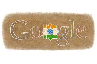 Google-Doodle for India's I - Day 2010