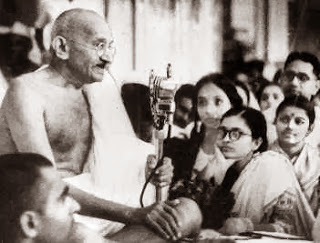 M.S. with Mahatma Gandhi