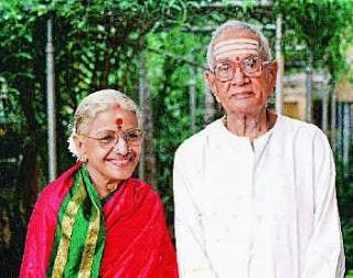 M.S.Subbulakshmi and 'Kalki' T.Sadasivam