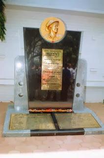 A Memorial to  Sivaji Ganesan inside A.V.M.Studios Chennai