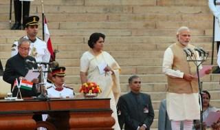 Narendra Modi Taking Oath of Office and Oath of Secrecy