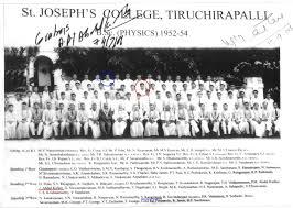 APJ Abdul Kalam  SJC B Sc Physics 1954 Group Photo