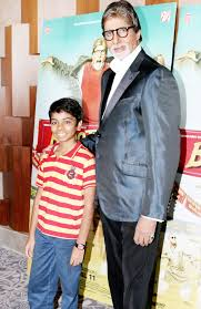Parth Bhalerao with Amitabh Bachan
