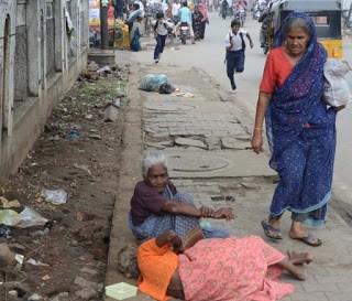 Stranded Senior Citizens on the Road Sides