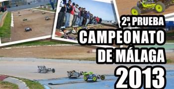 Cartel de la segunda prueba del Campeonato de Málaga 1/8 TT 2013