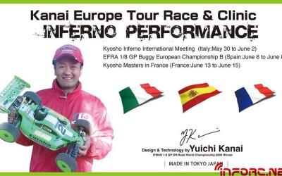 Yuichi Kanai y su tour europeo del 30 de Mayo al 16 de Junio