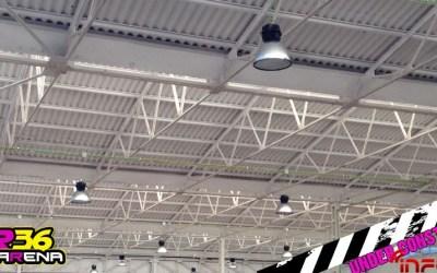 RBR36 Arena ¡luces instaladas y techo blanqueado!