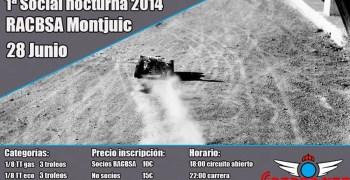 Carrera nocturna el 28 de Junio en Montjuic