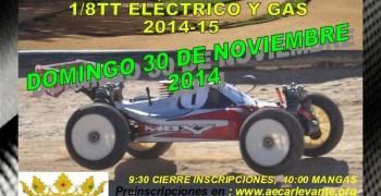 Este finde, tercera prueba del Campeonato de Castellón 1/8 TT Gas y eléctrico