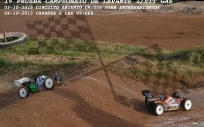 Este finde: Campeonato del Levante 1/8 TT Gas 2015