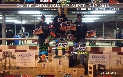 Resultados - 1ª Prueba Andalucia E.P. Supercup 2016. Antas