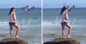 Video - Accidente con un dron durante una sesión de moda