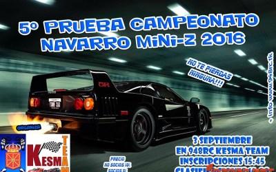 3 de Septiembre - Quinta prueba Campeonato Navarro de MiniZ
