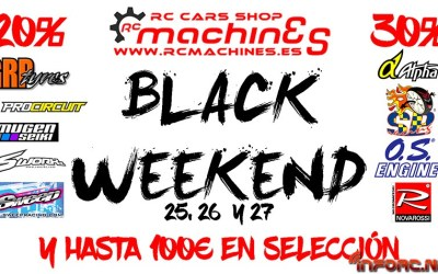 Black Friday en RC Machines - Descuentos de 20%, 30% y hasta 100€