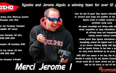 Jerome Aigoin y Kyosho se separan