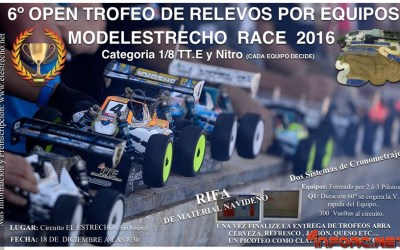 18 de Diciembre - Open trofeo de relevos por equipos Modelestrecho Race 2016