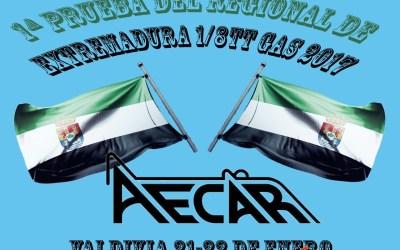 21 y 22 de Enero - Primera prueba regional de Extremadura 1/8 TT Gas 2017