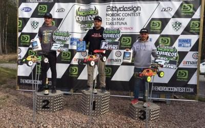 Elliot Boots, David Ronnefalk y Robert Batlle, podio de la Nordic Contest. Trazado extremadamente bacheado; fotos.