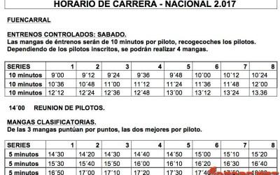 Horarios 2ª prueba Campeonato de España A 1/8 TT Gas, Fuencarral