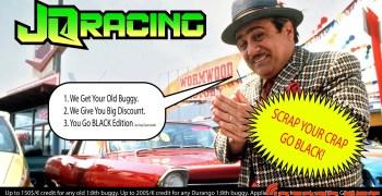 Plan renove con JQ Racing. Entrega tu viejo buggy y prueba el nuevo Black Edition (o grey)