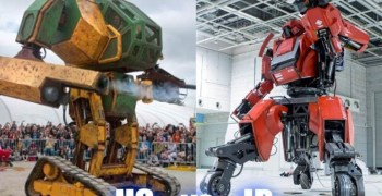 Video - Las peleas de robots gigantes son ya una realidad. USA Vs Japon