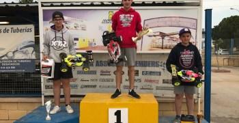 Juan Carlos Canas, Alejandro Perez y Josemi Sanchez inauguran el podio del Campeonato de Málaga 1/8 TT