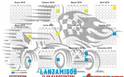 Calendario 2019 Club Lanzamigos