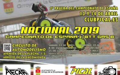 13 y 14 de Abril - 2ª Prueba del Campeonato de España B 1/8TT gas en Pical