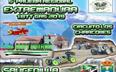 1 de Septiembre - Quinta prueba regional de Extremadura 1/8 TT Gas 2019