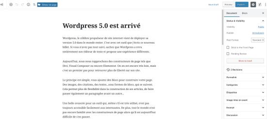 WordPress 5.0 est arrivé