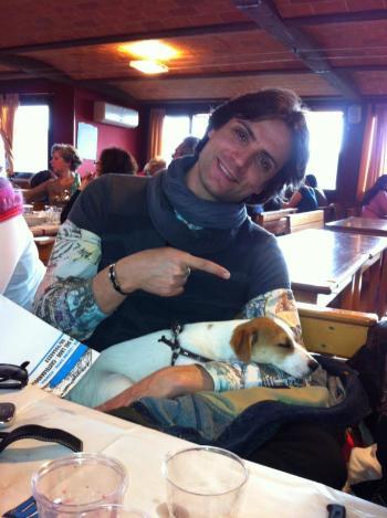 Picone col suo cane Grisù