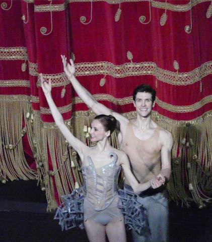 Bolle e Zakharova ricevono l'applauso del pubblico (foto: Monica Bragagnoli)