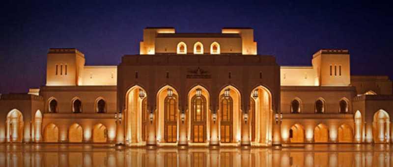 La monumentale struttura della Royal Opera House Muscat Oman