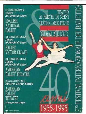 Locandina della edizione 1995 del Festival di Nervi