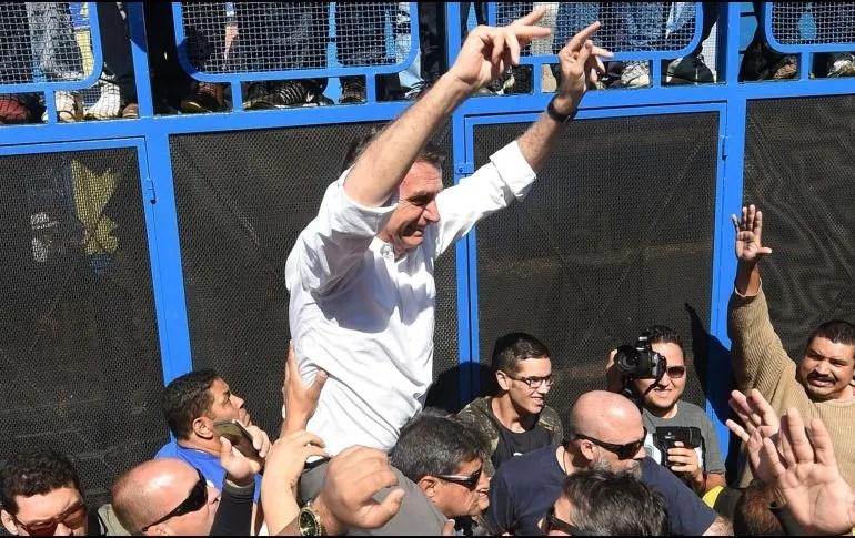 Bolsonaro es el segundo favorito en los sondeos después de Luiz Inácio Lula da Silva. AFP/E. Sa