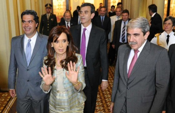 CFK, Capitanich, Aníbal y Randazzo
