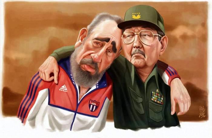 Fidel-y-Raúl-caricatura
