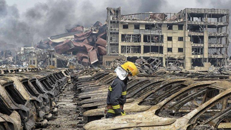 explosiones sacudieron la ciudad China de Tianjin