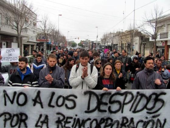 protesta no a los despidos